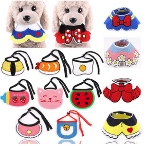Colorful pet cat dog bibs bandanas durable dogs scarf collar adjustable pet cute neckerchief scarf cute saliva towel for cats dog YHM963