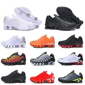 Nike Shox TL shoxNİK Beyaz Siyah Shox TL Erkek Runnning Ayakkabı Büyük Boy 12 Beyaz Siyah Kırmızı Volt Shox Ayakkabı Turuncu Gümüş Viotech Erkek Eğitmenler Spor ayakkabılar