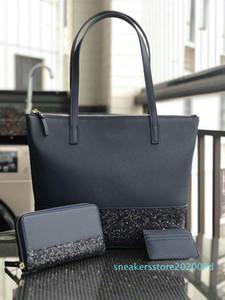 5larger glitter purse set brand designer Patchwork shining shoulder crossbody shopping bags pu female handbag totes 5 color s09