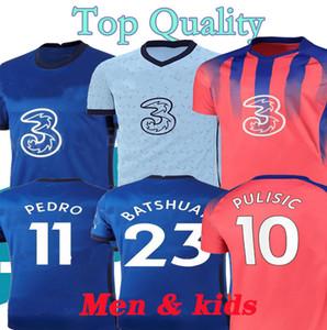 2021 PULISIC ZIYECH WERNER ABRAHAM MOUNT HAVERTZ Кант Жир Chilwell трикотажных изделия футбола 20 21 T.SILVA футбол рубашка Мужчина Дети Комплект унифицированного 4XL
