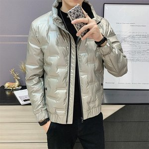 HCXY brand mens thick jackets and coats fashion style winter parka men shiny short down jacket men