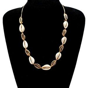 Сплав природных Корпус Чокеры Ожерелье для женщин Rope Chain 2020 Моды ювелирных изделий длинного ожерелья Женского простого стиль New Hot