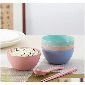 2017 novas tigelas de trigo criativo Produtos de palha dos desenhos animados crianças de arroz bacia de arroz utensílios de mesa fruit jllcts jjxh