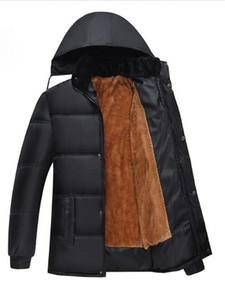 Winter plus Samt dicke warme Jacke der Männer lose Baumwolljacke der Männer plus Größe Wintermantel mit Kapuze Baumwollmantel MY05