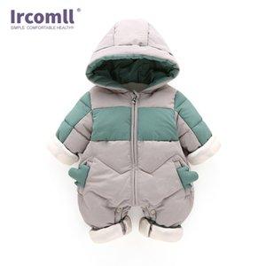 Ircomlow Bebek Bebek Kış Giysileri Bebek Tulum Kapşonlu Yenidoğan Erkek Bebek Kız Romper Kid Sonbahar Tulum Toddle Giyim 201029
