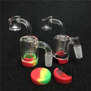 Glass Reclaim Catcher ash catcaher handmake with 4mm Quartz Banger nail and 5ml silicone wax containers silicone nectar collector