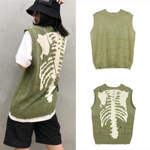 Manches en vrac Trou Pull Homme Femme 1 haute qualité Sweat ras du cou en tricot Sweater Vest