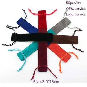 50pcs lot Pen Bag Double Velour Lip Stick Bag Both-side Flannelette Lip Gloss Drawstring Bag G bbyTfV
