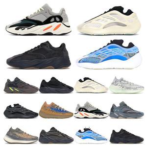 Top Kanye West 3m arancione arancione arancione Onda Onda Onda Onda da uomo Donne Runnings Scarpe Sneakers Grigio solido Analogico Tael Carbon Blue Designer Scarpe