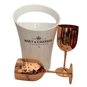 Vinho Champagne Coupes Cocktail de vidro Moet Champagne Flutes Galvanização Copa Wine Goblet Electroplated Plástico Cups yxlDAX loveshop01