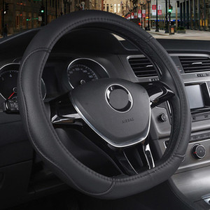 Direksiyon-Wheel üzerinde 2019 Braid - Renault Kadjar Espace Twingo megane Talisman 2015 için Araç Direksiyon Kapak D Tipi PU Deri