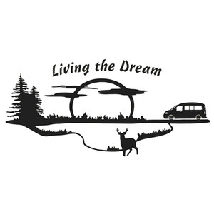 17*8cm MOTORHOME CAMPER VAN CARAVAN   STICKERS  DECAL Unique Poetic Car Accessories Motorcycle Helmet Car Styling