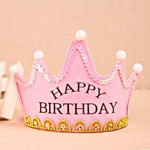 Birthday Hat Baby Birthday Hat Children Adult Year-Old Decorative Luminous Crown Birthday Hat