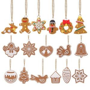 Pingente 17pcs / lot enfeites cervos Boneco Chrismas Árvore decoracion navidad Ano Novo Suplies decoração de festa
