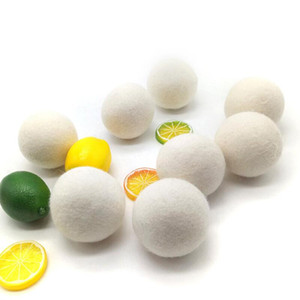 6CM Wool Dry Ball Premium Reusable Natural Fabric Felt Balls Reduce Static Helps Dry Clothes In Laundry Quicker Laundry Ball EWD2467