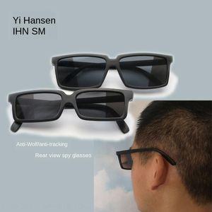 ARRIÈRE ANTI-WORLINGSPY VERRES ARRIÈRES Agent Mirror Sunglasses Secret Arrière ARRIÈRE Vue lunettes Cadre Square View Lhvum