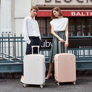 Mixi Patent Design Travel Luggage Men Women Trolley Case PC Rolling Luggage Spinner Wheels TSA Lock Free Cover LJ200928