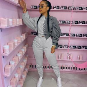 겨울 여자 캐주얼 트랙 슈트 여성 2 피스 세트 Sportwear 조깅 스웨트 슈트 바지 suit1