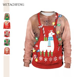 Funny Ugly Christmas Sweaters Unisex Couples Holiday Party Festival Gift Tops Jumpers Autumn Winter Women Man 2020 Sweatshirts