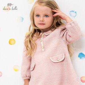 DBM15767 Dave Bella Winter Baby Chica Linda cremallera Vestido para niños Vestido de fiesta de moda Niños Infantil Lolita Ropa 201128