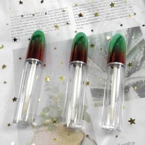 5 мл Блеск для губ Tube Green Bullet, Empty Жидкая губная помада Refillable контейнер, DIY Пластиковые бутылки 100pcs / Lot