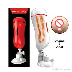 J1607 doppio Realistic Male Male Anal Masturbation Cup Men Pussy vagina Masturbators aspirazione vibratore Sex Tunnel MizzZee Ksavo