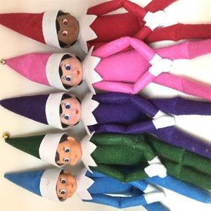 2020 10 stili giocattoli Christmas Elf Doll peluche Elfi Babbo bambole vestiti sullo scaffale per giocattoli regalo di Natale della bambola della peluche 02