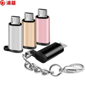 Micro USB Adaptador de carga Data Data Sync Converter con llavero para dispositivos Android Tabletas Tabletas Micro USB Macho