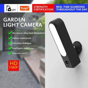 Smart Wireless Camera Outdoor Garden Light 1080P Wifi IP Camera Night Vision Waterproof Home Security Cam Cloud Storage TF Card