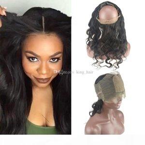قاعدة الحرير 4x4 360 الدانتيل الفرقة أمامي إغلاق مع شعر الطفل الجسم البرازيلي موجة عذراء الشعر 360 الرباط أمامي مع الأشرطة قابل للتعديل