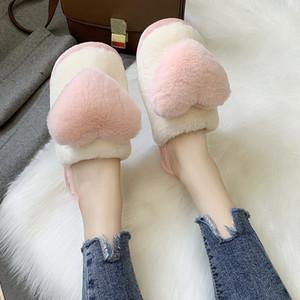Low Shoes For Girls Slippers Flat Luxury Slides Fur Flip Flops Winter Footwear Shose Women Lady Designer Massage Plush PU Rome F1224