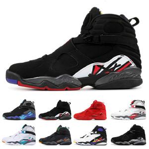 2021 Día de San Valentín Aqua White Black 8 8s Hombres Zapatos de baloncesto Chrome Countdown Pack 3 turba VIII Reporte para hombre Deportes Sneaker Tamaño 7-13