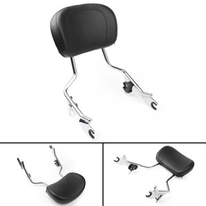 Areyourshop Motorcycle Sissy Bar Backrest Pad For Harley Electra Glide FLHT Road King FLHR 2009-2014 Motorbike Accessories Parts