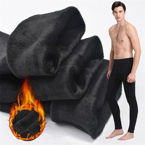 Thermal underwear for Men winter Long Johns thick Fleece leggings wear in cold weather big size XL to 6XL 201007