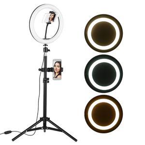 Desktop-LED Video Ring-Licht-Lampe 3 USB Beleuchtungsmodi Powered Für YouTube Live Video Recording Netzwerk Broadcast-Selfie Makeup