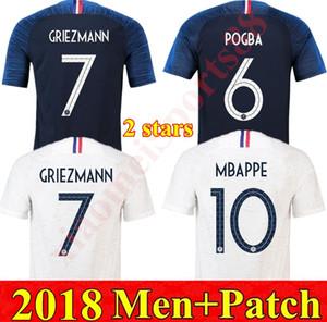 2018 Copa del Mundo Hogar de Francia Jerseys de fútbol MBAPPE Griezmann Mens Jersey Uniformes Pogba Ndombele Kante Hombres Camisa de Fútbol