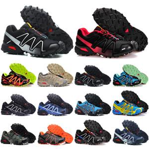 Salomon Speed Cross 3 4 New Salomos Herren Schuhe zapatos hombre Geschwindigkeit Kreuz 3CS III Sport Turnschuh-Mann-Schwarz im Freien sportlich Speedcross Solomon Größe der