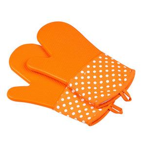 Ofen Silikon wasserdichte Handschuhe Mikrowellenherd-Handschuh Rutschhemmende Hitzebeständigkeit Bakeware Küche kochend Grill BBQ Werkzeuge FWA1745
