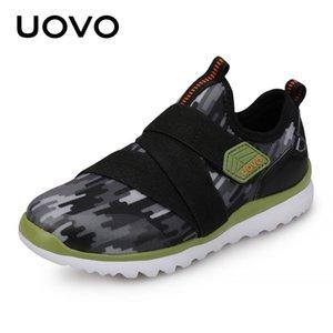 Uovo Детские весенние туфли для мальчиков и девочек Новые маленькие детские кроссовки дышащие модные туфли детей Обувь размеры 27 # -38 # 201201