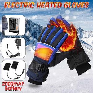 1 Çift Elektrikli Isıtmalı Eldiven Kış Termal USB El Isıtıcı Dokunmatik Ekran Kış Isıtıcı Motosiklet Kayak Gloves için Su Geçirmez