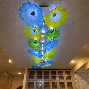 Nordic Cristal au LED Plafonnier Vert Bleu Jaune de couleur Accueil Lampes Pour Salon Chambre Cuisine PLAFOND Chandeliers
