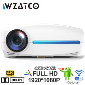 Новый High-Gra C2 4K Full HD 1080P Светодиодный проектор Android 10 Wi-Fi Умный домашний кинотеатр AC3 200 дюймов Video Proyector с 4D Digital Keyston