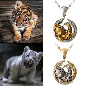 Tiger Halskette Überzogene Silbergold-Kette Modefestival Feierndekunde Choker-Ornamente Multi Color Schmuck Zubehör 4 28Fs O2
