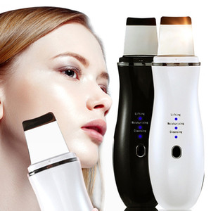 Ultrasonic Skin Scrubber Peeling Shovel Ion Acne Blackhead Remover Deep Face Cleaning Machine EMS Facial Skin Lifting Massager Cleaner
