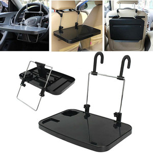 Folding Car Computer Desk Work Table in Car Laptop Stand Tray Drink Holder