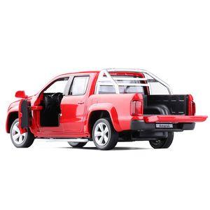 C 1시 반 VW Amarok의 픽업 장난감 자동차 모델 합금 잡아 당기기로 돌아 가기 어린이 장난감 정품 라이센스 컬렉션 선물 음향 광학 미니 LJ200930