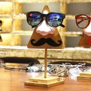 Lunettes de soleil Affichage Tabletop Boîtiers à bois massif Porte-lunettes Créatif Creative Wooden Stand Rack