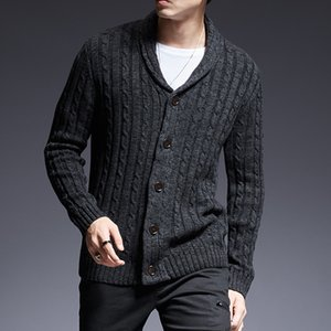 New Fashion Brand Sweater Man Cardigan Thick Slim Fit Jumpers Knitwear High Quality Autumn Korean Style Casual Mens Clothes 201022