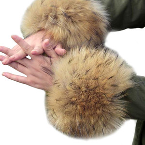1pair Coat Sleeve Party Plush Wrist Faux Fur Cuff Arm Warmer Costumes For Women Gifts Winter Autumn Elastic Fashion Leg Furry