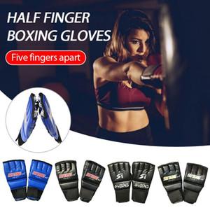 Split-finger Boxing Gloves Punching Bag Half-finger Open Glove Palm Breathable Five-finger Leather Split Finger Dropshipping